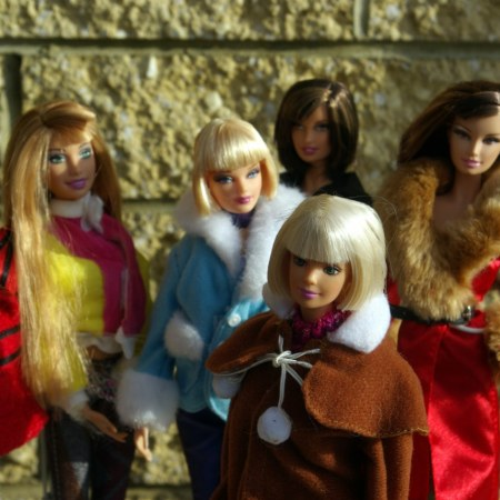 fashion dolls in coats