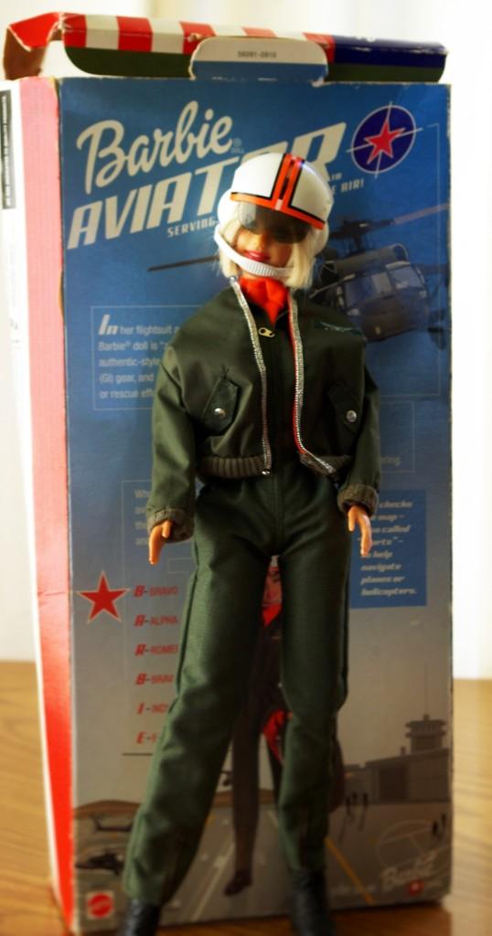 Aviator Barbie de-boxed